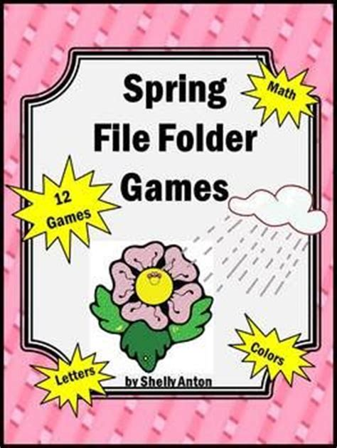 printable file folder games for kindergarten 23 best images about teacher file folder games printable
