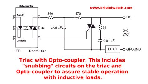 capacitor triac circuit solid state ac relays using triacs