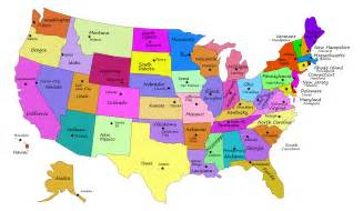 clipart united states map with capitals fixed