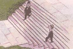 geht ein mann die treppe rauf unm 246 glich optische t 228 uschungen