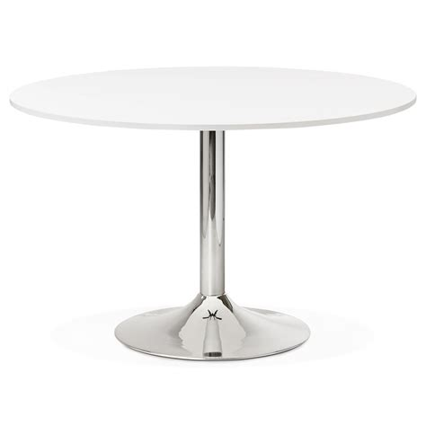 table ronde de bureau table de bureau ronde blanche saopolo 120 cm table 224