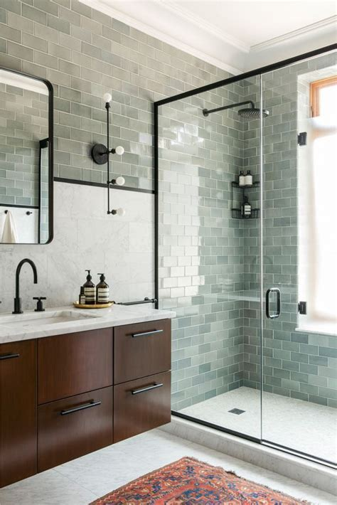 glass subway tile bathroom ideas 25 best ideas about mosaic tile bathrooms on