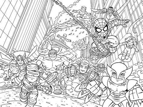 marvel coloring pages adults marvel superhero squad coloring pages superhero coloring
