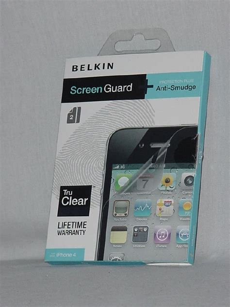 Screen Guard Anti Iphone 4 belkin screen guard for iphone 4 anti smudge tru clear no 160