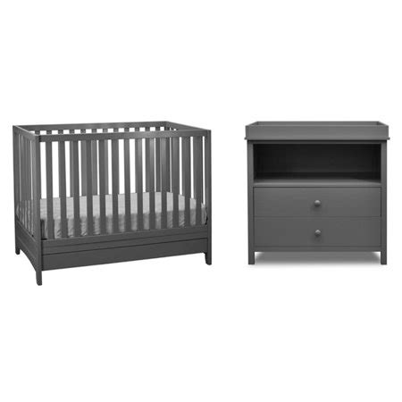 grey crib and changing table athena mila 3 in 1 convertible crib with changing table in