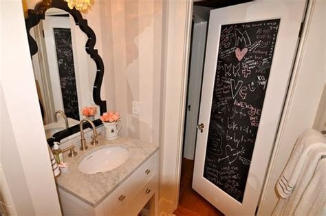 painting bathroom doors how to creatively use chalkboard paint around the house