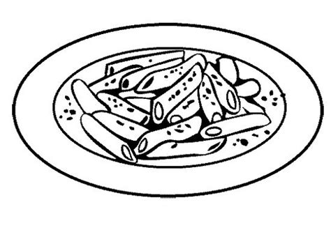 free coloring pages of bowl of pasta