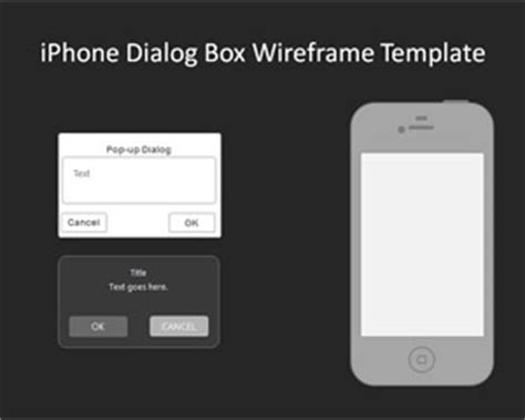02 Iphone Dialogbox Wireframe Template Iphone Presentation Template