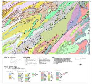 geologic map of bedrock geology and mineral resources of the knoxville 1