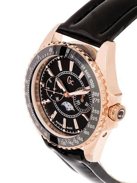 Guess Collection X73001m1s Black Rosegold s watches brand new design guess collection gold and black moon phase