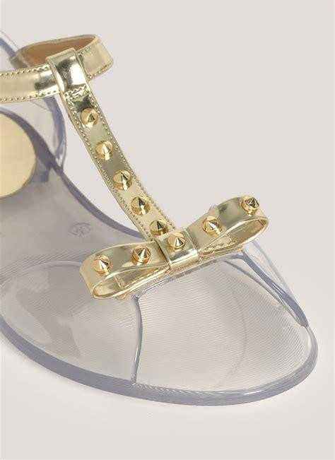 studded jelly sandals lyst stuart weitzman studded jelly sandals