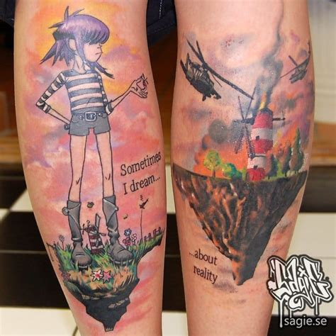 15 gorillaz tattoos that will give you the feel good inc