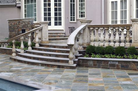 Home Depot Deck Design Gallery exteriors carved wrought iron exterior handrail for