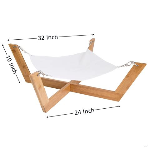 dog hammock bed amazon com jumbl deluxe large bamboo cat dog hammock pet lounge bed features