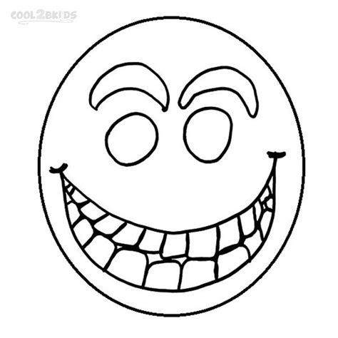 free a happy face coloring pages