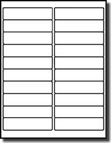 1 X 4 Inch Label Template 1 X 4 Inches Mailing Labels Or Stickers Avery 174 5261 Template