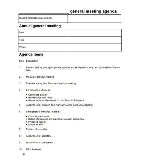 meeting template agenda 46 effective meeting agenda templates template lab