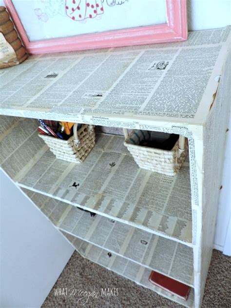 Decoupage Shelves - decoupaged target bookcase what meegan makes