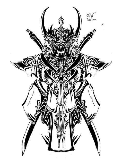 tribal samurai tattoo tribal samurai mask design
