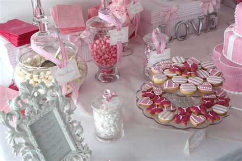 Sugarcoated Pink and White Candy Buffet   The Sweetest