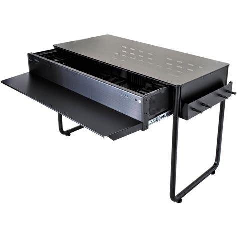 lian li dk 02x aluminum computer desk black dk 02x b h photo