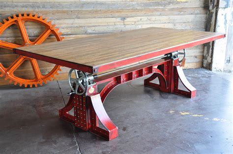 Furniture Kitchen Tables vintage industrial crank table designs crank up your decor