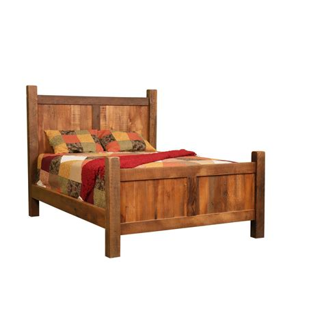 barnwood bed barnwood farmhouse bed amish crafted furniture
