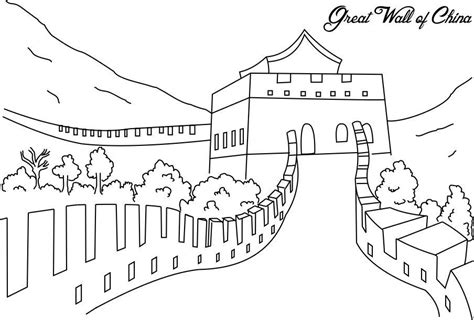 Great Wall Of China Coloring Page free coloring pages of great wall china