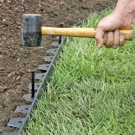 backyard nature products easyflex no dig garden edging 50 metal landscaping edging