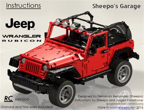 lego jeep sheepo s garage jeep wrangler rubicon