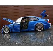 Bmw M3 E46 GTR Blue Wheels 20 Inches Minichamps Diecast Model Car 1/18