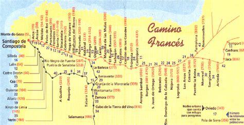 camino way map camino camino de santiago de compostela