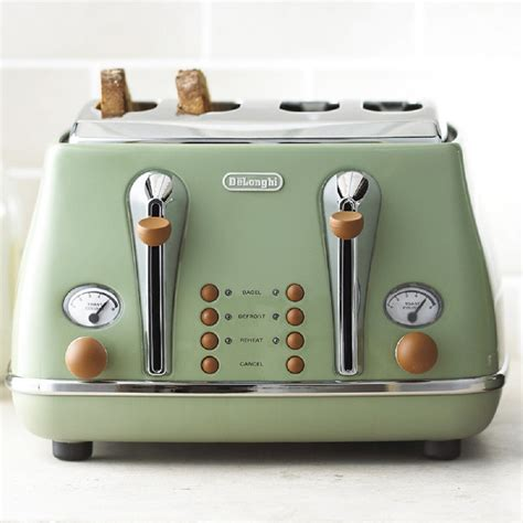 Delonghi Vintage Icona Toaster delonghi vintage green kettle and toaster