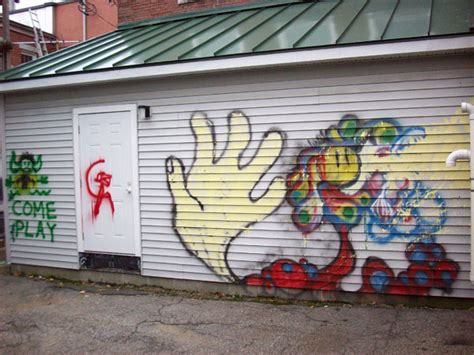 spray paint buildings two juveniles charged following vandalism downtown daily