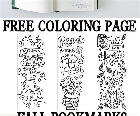 printable autumn bookmarks to color 7 best images of printable lab bookmarks free printable
