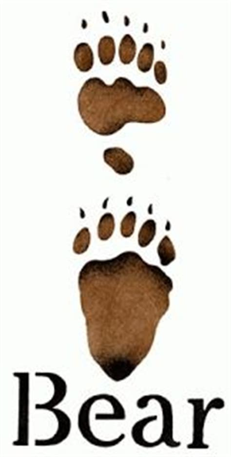 bear track tattoo designs bears