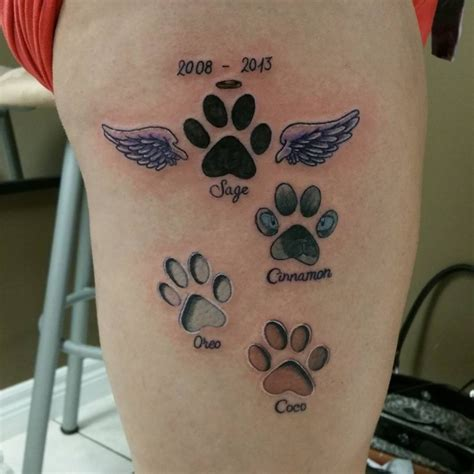 tattoo of cat paw print 65 best paw print tattoo meanings and designs to