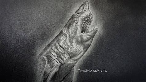 dibujos realistas youtube dibujo realista de un aterrador tibur 243 n blanco a l 225 piz