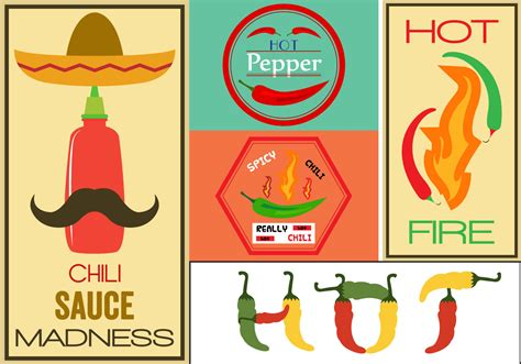 spicy sazonado chili pepper vintage sign framed art print hot pepper vector signs download free vector art stock