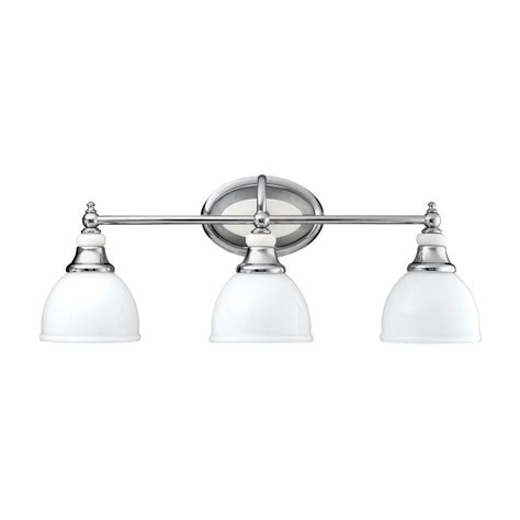 Kichler Vanity Light Shop Kichler Lighting 3 Light Pocelona Chrome Transitional Vanity Light At Lowes