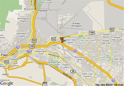 elpaso texas map map of courtyard by marriott el paso airport el paso