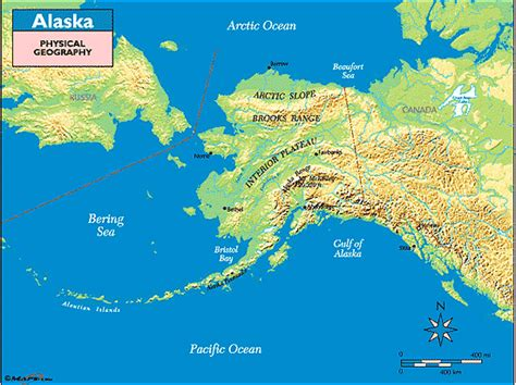 physical map alaska alaska physical geography map by maps from maps