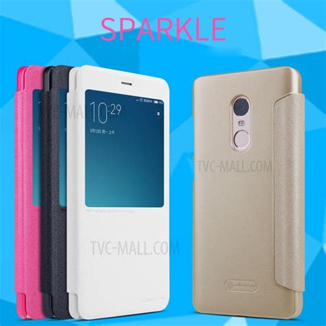Nillkin Sparkle Window Xiaomi Redmi Note 3 Note 3 Pro Hitam nillkin sparkle series smart view window leather for