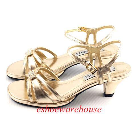 gold dress sandals low heel gold metallic low comfy mid heel dress rhinestone sandals