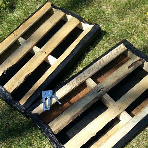 wood garden planters   pallets frugal living