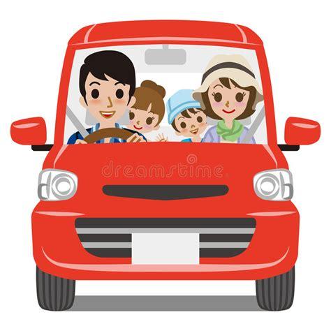 Mädchen Auto by Familien Auto Fahren Vorderansicht Vektor Abbildung