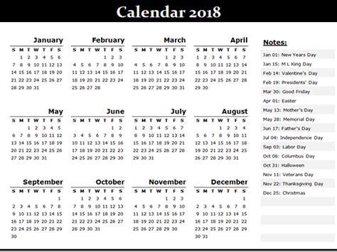 Calendar With All Holidays Free 2018 Printable Calendar Templates Free Printable