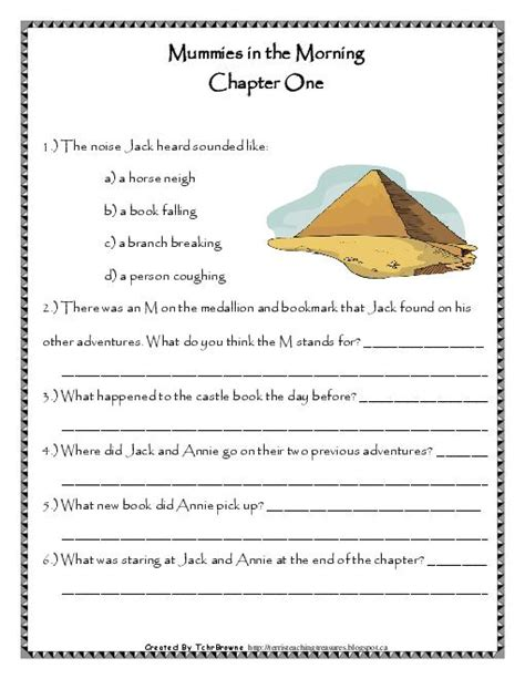 Magic Tree House Worksheets by Magic Tree House Comprehension Worksheets Worksheets