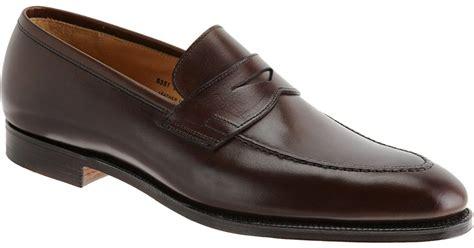 crockett and jones loafers lyst crockett and jones sydney loafers in brown