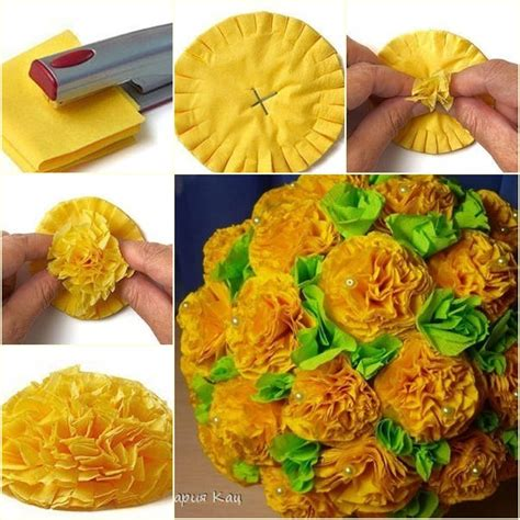 How To Make A Tissue Paper Flower Bouquet - how to make tissue paper flower bouquet usefuldiy
